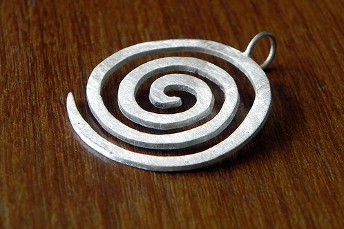 Pingente espiral de prata