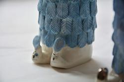 Gefiederter Fuchs, Detail, Porzellan