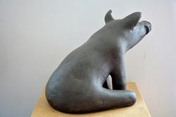 _Endalter_, Steinzeug, schwarz, 1240°C, 2017, 24,5cm x 23cm x 35cm, (c) Olivia Weiß