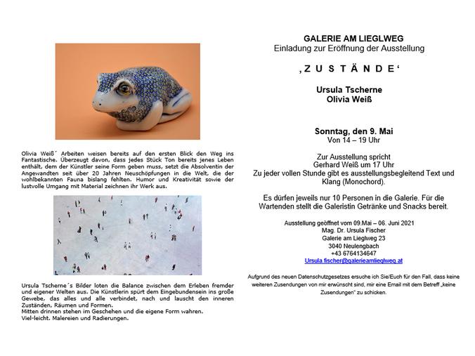 Einladung zur Ausstellungseröffnung am 9. Mai 2021
