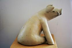 _Widerspruch_, Steinzeug, weiß, 1250°C, 2017, 25,5cm x 27cm x 35cm, (c) Olivia Weiß