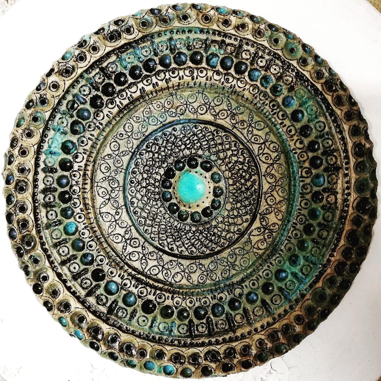 Steinzeugplatte, Ornament
