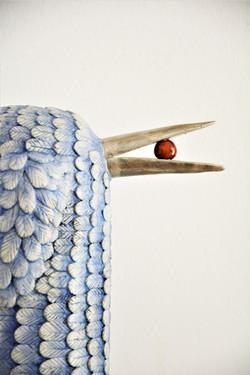 Vogel mit Beere