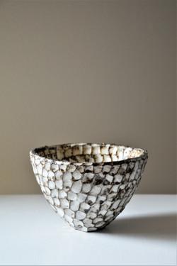 Schale, Keramik, glasiert,10x10cm