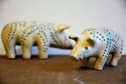 Miniwildschweine, Steinzeug, 2018