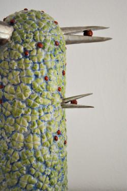 Vögel im Klee, Detail