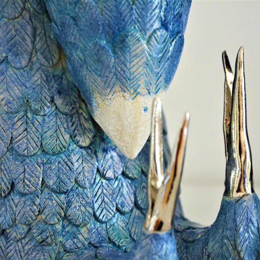 Detail, Fuchs im Vogelkleid