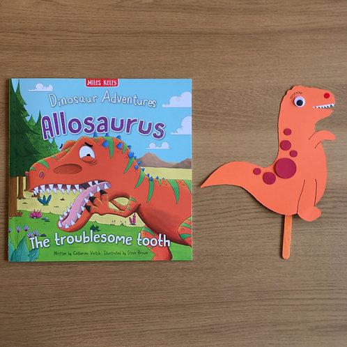 Dinosaur Puppet & Book