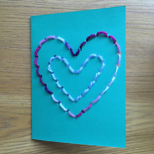 Sewing Heart Card - Mother's Day