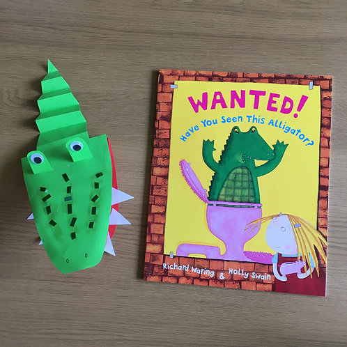 Wanted! Have You Seen This Alligator? - Puppet Craft Kit