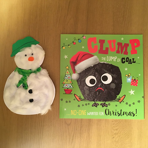 Clump the Lump of Coal - Snowman Collage