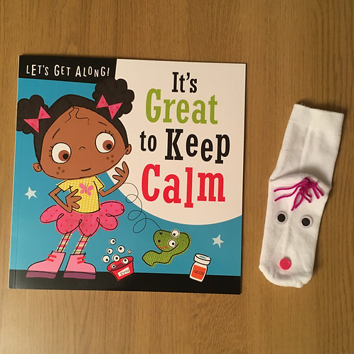 It's Great to Keep Calm - Sock puppet craft