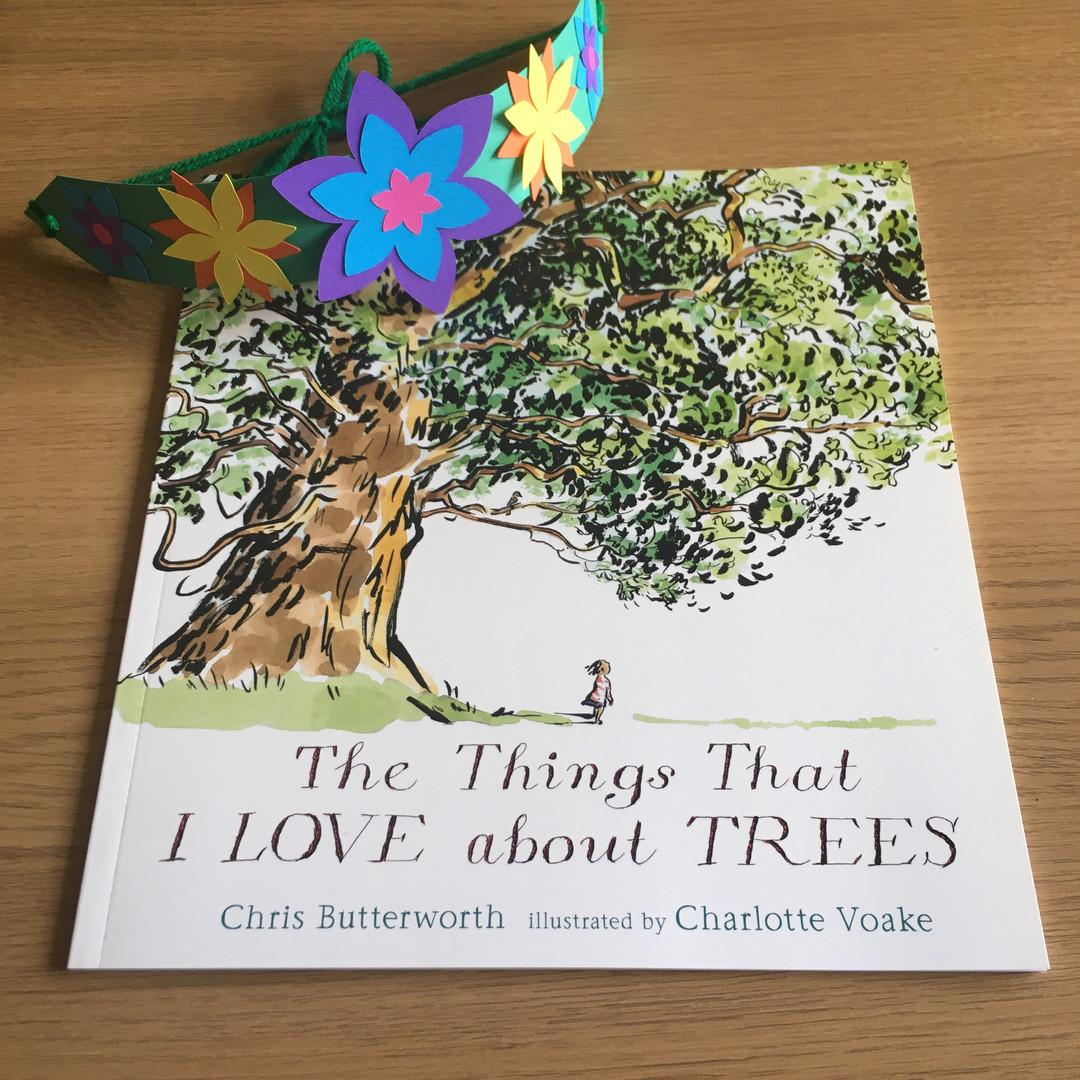 Trees Book & Flower Headband