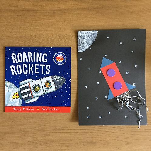 Rocket Collage & Roaring Rockets Book