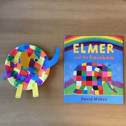 Elephant Craft & Elmer Story Book