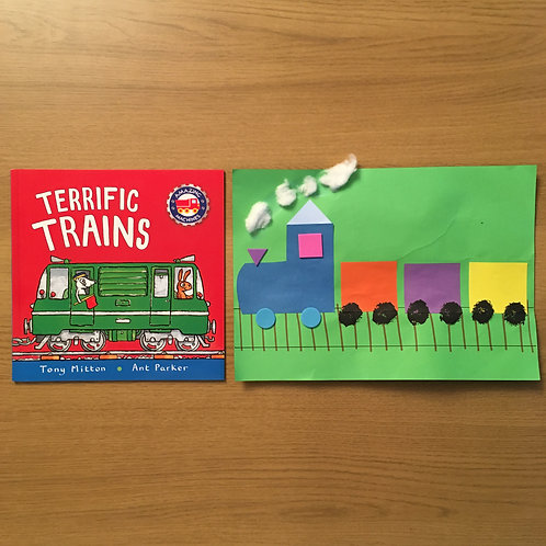 Train Collage & Terrific Trains Book