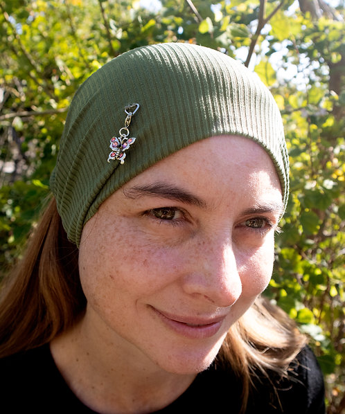 Hunter Green Multi-Use Scarf with Charms