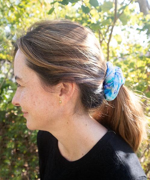 Blue Floral Multi-Use Scrunchie/Scarf