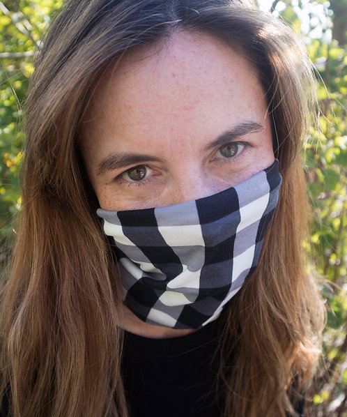Black & White Check, Multi-Use Face Mask