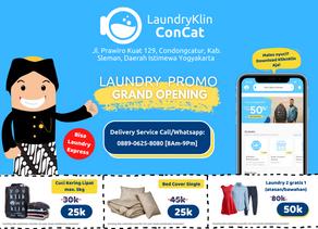 Halo Jogja! LaundryKlin ConCat Hadir Melayani Laundry Untuk Anda!