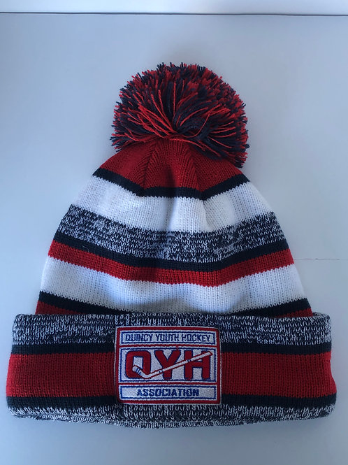 New Era Knit Beanie Navy/Red/White