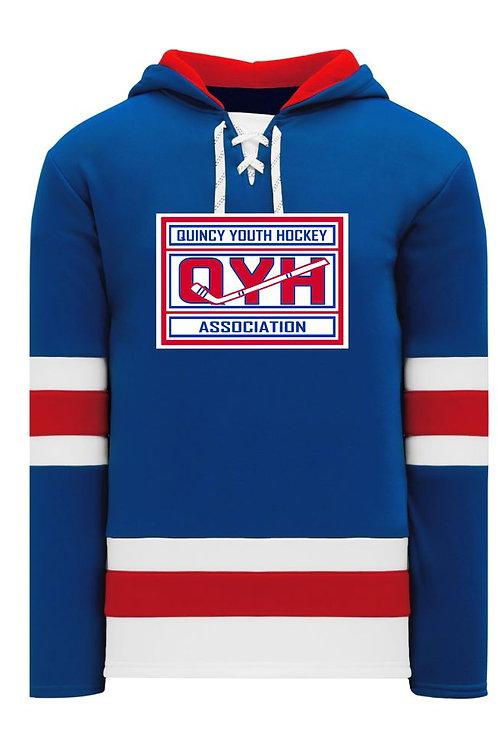 Athletic Knit Hooded Sweatshirt