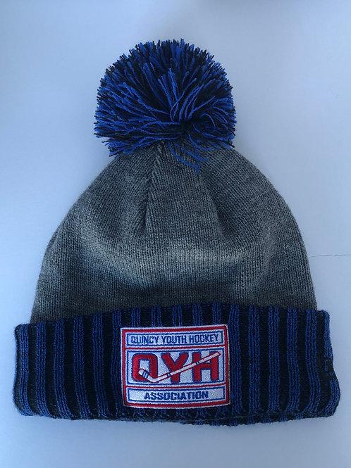 New Era Knit Beanie Royal/Gray QYH