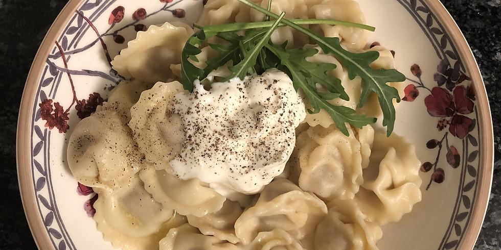Dinner at The Lab - Pelmeni (Russian Dumplings)