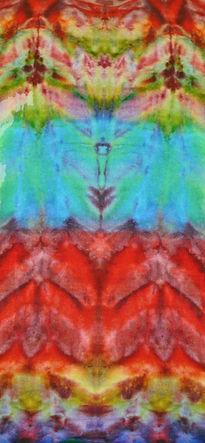 """Kaleidoscope"" Silk Dyed Scarf by Denise Averay"