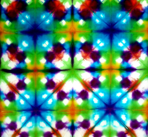 Denise Averay; Adelaide textile artist; deniseaveray.com.au; dyed silk; Shibori; clamped folded & dyed