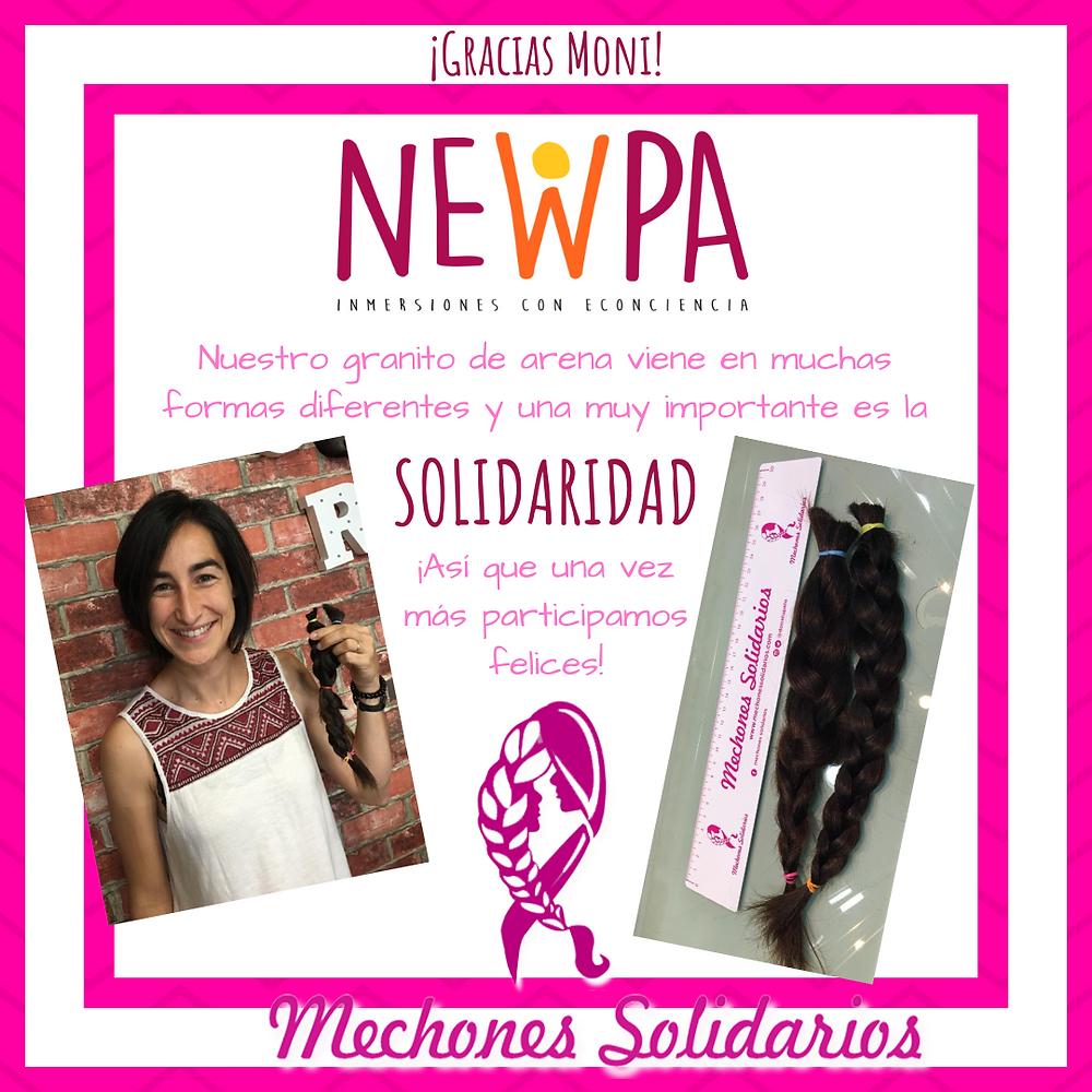 Mechones solidarios - Gracias Moni