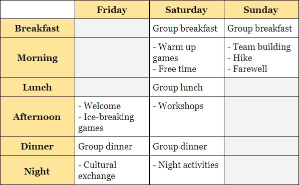 Programa actividades ingles adultos fin de semana naturaleza inmersion