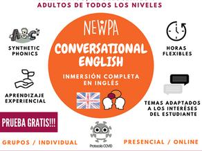 CLASES DE CONVERSACIÓN Y CLASES PARTICULARES EN INGLÉS