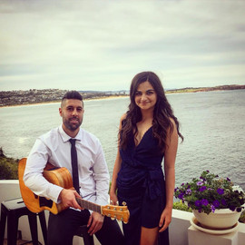 Engagement at a private house in Dee Why.  Sydney acoustic duo.