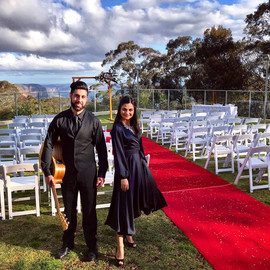 Wedding ceremony, canape's & reception at the Fairmon Resort, Blue Mountains.  Sydney acoustic duo.