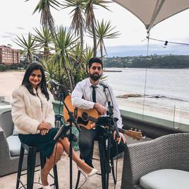 Wedding ceremony & canape's at Balmoral Bathers Pavillion.  Sydney acoustic duo.