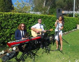 Wedding ceremony at Eden Gardens and Garden Centre.  Sydney acoustic duo.