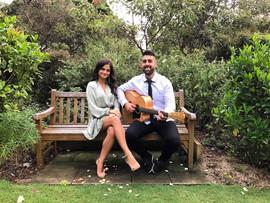 Wedding ceremony at Lion Gate Lodge, Royal Botanical Gardens, Sydney.  Sydney acoustic duo.