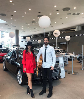 Audi Sales Weekend.  Sydney acoustic duo corporate event.