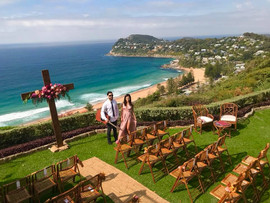 Wedding ceremony & canape's at Jonah's, Whale Beach.  Sydney acoustic duo.