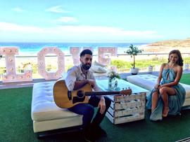 Wedding ceremony at Horizons Venue, Maroubra.   Sydney acoustic duo.