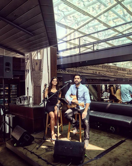 Corporate Event at Cafe Sydney for the Caltex Awards Night.  Sydney acoustic duo.