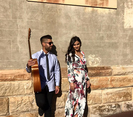 Wedding ceremony at St Peter's Chanel, Hunters Hill.  Sydney acoustic duo.