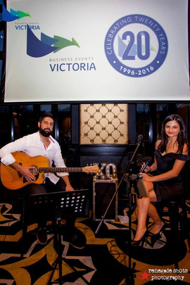 Corporate event for the Business Awards of Victoria - Corporate Function. Doltone House, Hyde Park.  Sydney acoustic duo.