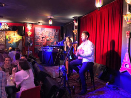 Wedding reception at the Camelot Lounge, Marrickville -   Sydney acoustic duo.