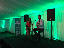 Corporate funciton for the Wrigleys Conference. Crowne Plaza, Hunter Valley.  Sydney acoustic duo.