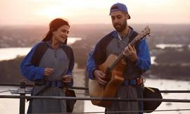 XO Acoustic Duo Sunset Sessions with BridgeClimb Australia 2018.  Sydney acoustic duo.