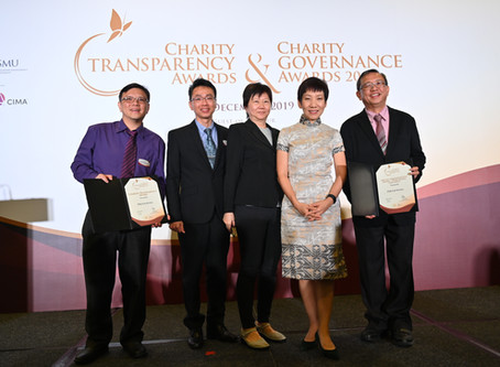 O'Joy wins two awards at Charity Governance Awards Night 2019