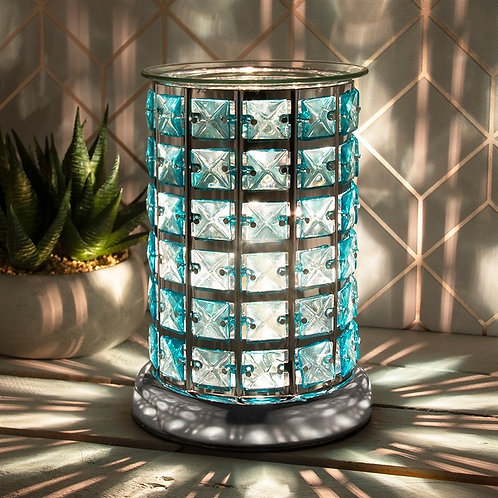 Aroma Lamp - Jewelled in Teal colour
