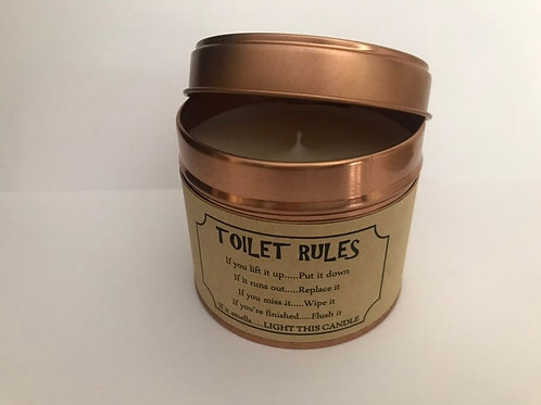 Comedy Candle - Toilet Rules